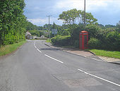 Telephone box at Crow Hill - Geograph - 1529617.jpg