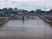 Flooded Broadway underpass, Belfast - Coppermine - 19628.jpg