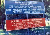 Signs for the road to Applecross in 1975 - Geograph - 2315752.jpg