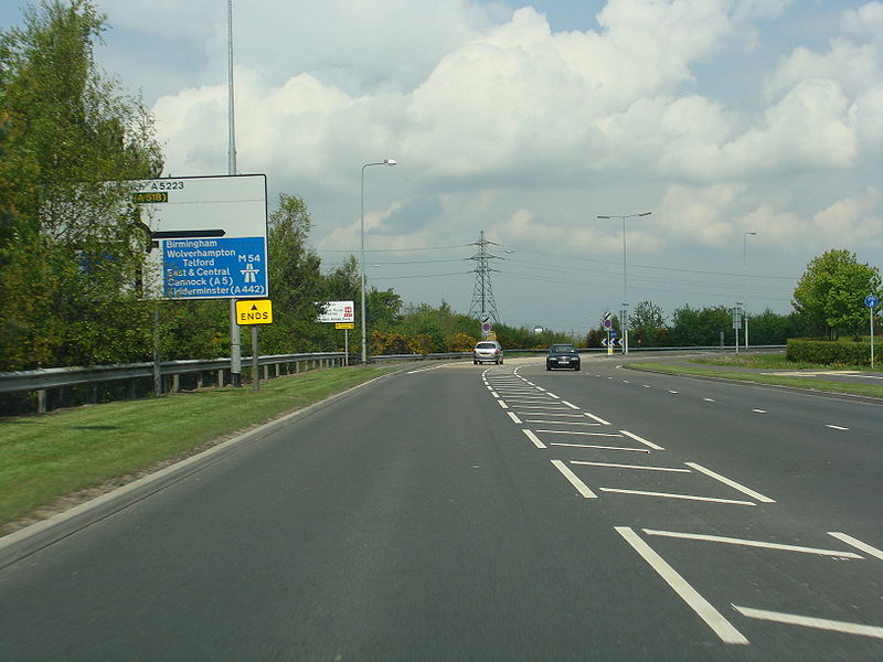 File:A5223 south of M54.jpg