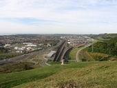 Channel tunnel terminus from Castle Hill - Geograph - 315408.jpg