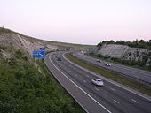 The M3- Twyford Down cutting at dusk - Geograph - 23924.jpg