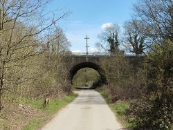 The North Downs Way under the A3 near Compton - Geograph - 4915442.jpg