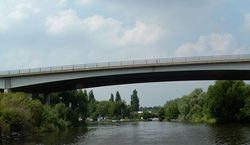 A47 Postwick Viaduct from River Yare - Geograph - 674486.jpg