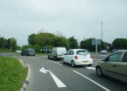The A354 at the A35, Dorchester - Geograph - 4981412.jpg