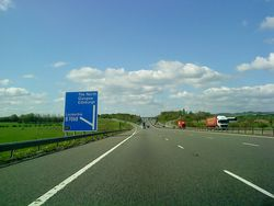 M74 at Junction 17 - Geograph - 1846712.jpg