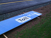 New M8 'Toll' signage, junction 14 - Coppermine - 21855.jpg
