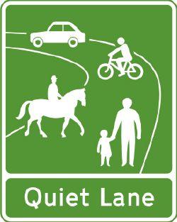 Quiet Lane sign