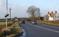 The A48 near the Parkwall roundabout - looking towards Newport - Geograph - 1122615.jpg