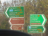 A38 and A5111 Junction sign - Coppermine - 20782.jpg