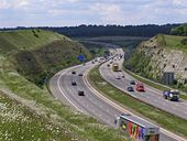 M3 motorway in the Twyford Down cutting - Geograph - 449508.jpg
