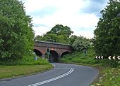 Railway crossing the A535 - Geograph - 177583.jpg