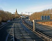 Christ Church alongside the M67 - Geograph - 1703182.jpg