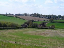 Holbrook farm and the road to Aston through the valley of the River Beane - Geograph - 3452818.jpg