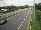 Looking north on the M6 motorway - Geograph - 1435144.jpg
