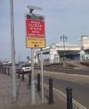 Southsea esplanade closure warning sign.jpg