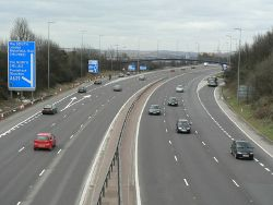 M621 from Middleton Road bridge - Geograph - 144506.jpg