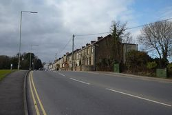Row of houses at the bottom end of Nantgarw Road Caerphilly - Geograph - 2758587.jpg