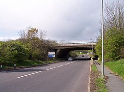 M50 Bridge over the A38 at M50 Junction 1 - Geograph - 3447.jpg