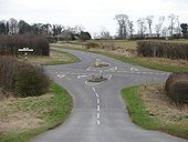 Road junction on B1202 - Geograph - 1203822.jpg