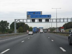 M6 Motorway - Approaching Junction 11 Slip Road - Geograph - 1522007.jpg