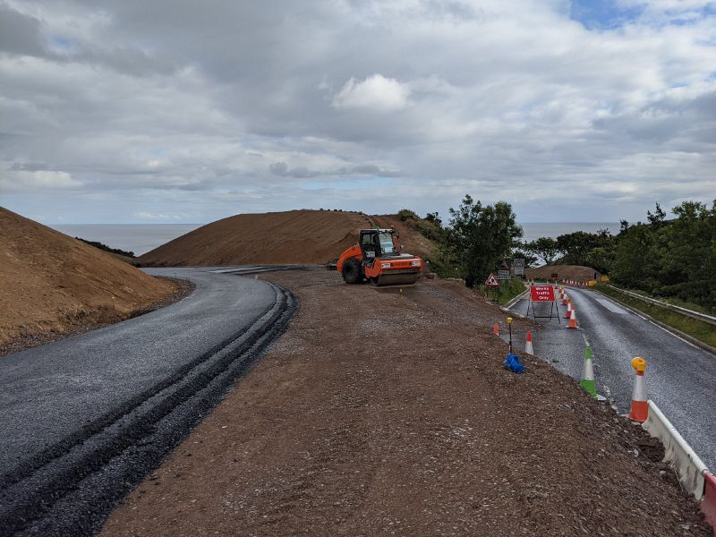 File:A9 Berriedale Braes Improvement - July 2020 North tie in.jpg
