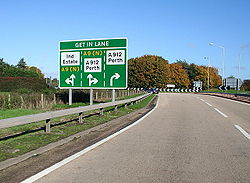 Approaching Inveralmond roundabout from the west on the A9 - Geograph - 264881.jpg