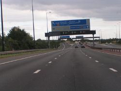 Junction 23 on the M4 heading east - Geograph - 1460210.jpg