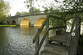 Swinford toll bridge on an early May morning - Geograph - 1279753.jpg