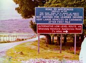 Signs for the road to Applecross in 1980 - Geograph - 2315798.jpg