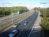 The southern end of the M5, near Exeter - Geograph - 996285.jpg