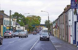 Looking northwest along Georges Street to the railway bridge, Gort - Geograph - 2775811.jpg