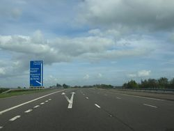 M74 at junction 21 - Geograph - 1866344.jpg