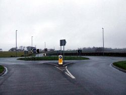 Roundabout on B4366 - Geograph - 121319.jpg
