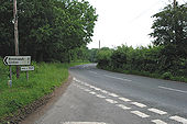 Road junction at Hill Top - Geograph - 457367.jpg