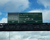 Dodgy gantry on upgraded A12 Westlink - Coppermine - 17196.jpg