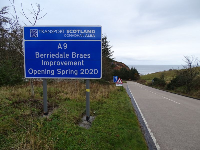 File:A9 Berriedale Braes Improvement - November 2019 project infomation sign.jpg