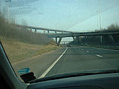 M8 - M73 junction with highlevel crossover - Coppermine - 1558.JPG