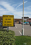 American style sign, Adastral Square car park, Poole Dorset - Coppermine - 17894.jpg