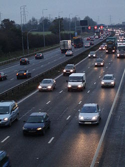 Early Morning Traffic on the M42 Motorway - Geograph - 86205.jpg