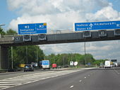 M25 Motorway Clockwise. Junction 12 Slip Road For The M3 - Geograph - 1280474.jpg