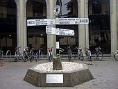 Old road signs outside County Hall - Geograph - 1322852.jpg
