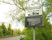 Ferry information sign near Downpatrick - Geograph - 1310001.jpg