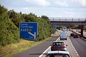 M11 Approaching junction 12 - Geograph - 1486320.jpg
