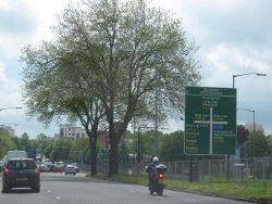A38 Approaching Inner Ring Road at Belgrave Interchange - Geograph - 1291358.jpg