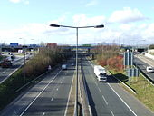 Junction 18 of the M60-M62 at Simister - Geograph - 359232.jpg