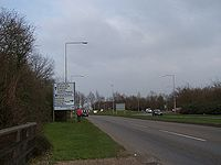 Approaching Great Linford roundabout - Geograph - 1207459.jpg