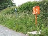 Emergency phone on the A65 at Thorlby - Geograph - 1397222.jpg