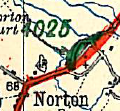 B4025 Norton map.png