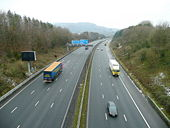 M4, looking east at Radyr - Geograph - 1660484.jpg
